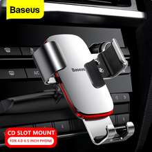 Baseus Gravity Car Phone Holder CD Slot Car Phone Mount Holder for 4.0-6.5 Inch Mobile Phone Compatible with All iPhone and Android Cell Phones
