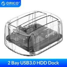 """Orico Hdd Docking Station Sata To Usb 3.0 Adapter For 2.5"""" 3.5"""" Hdd Ssd External Hard Disk Drive Enclosure Docking Station"""