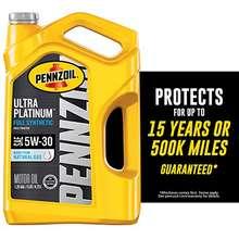 Pennzoil Ultra Platinum Full Synthetic 5W 30 Motor Oil 5 Quart Single Pack