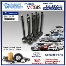 Hyundai [U][Genuine] Exhaust Engine Valve Set For Accent Getz Rio I30 Soul Diesel Original Mobis [Genuine Parts][D4FB D4FA Engine][U Engine][22212-2A100]