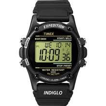 Timex Mens T5K463 Expedition Atlantis 40mm Black Resin Strap Watch