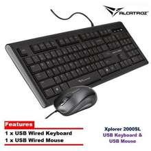 Alcatroz XPLORER 2000SL USB KEYBOARD AND MOUSE Black/Grey