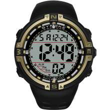 SYNOKE s new Southeast Asian explosion sports multifunctional waterproof luminous watch large dial mens electronic watch spot wholesale