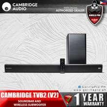 CAMBRIDGE AUDIO NEW! 🇬🇧 [GREAT BRITISH SOUND SINCE 1968] TVB2 (V2) Soundbar and Wireless Subwoofer