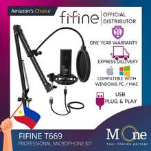 Fifine T669 Studio Condenser Usb Pc Microphone Kit With Boom Arm Stand Shock Mount M One Enterprise
