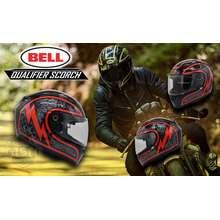Bell QUALIFIER SCORCH GLOSS BLACK/RED FULL FACE HELMET (Medium)