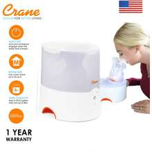 Crane Ee-5202W 2 In 1 Warm Mist Humidifier & Personal Steam Inhaler - White