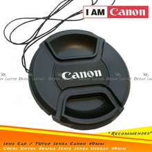 Canon Lens Cap Cover Camera Lens Cover 49Mm Ef-M 15-45Mm Logo Etc.