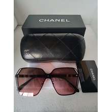 CHANEL ChaneI Model # 7915 Womens sunglasses (Gradient of grey lens with Black frame)