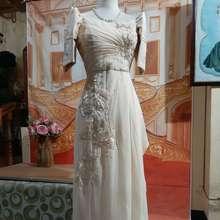 Vienellery Filipiniana Long Dress (Beige, Int:S)