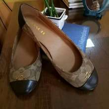 Coach Chelsea Flat Shoes In Signature Authentic