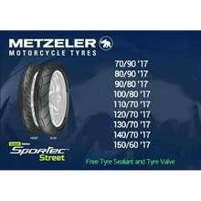 Metzeler Sportec Street Size 17 Free Pito Sealant