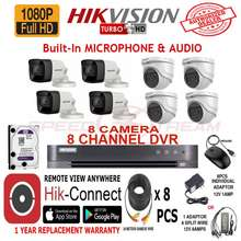 HIKVISION 2Mp 8 Camera With Audio 8 Channel Dvr 2Tb Hdd Package