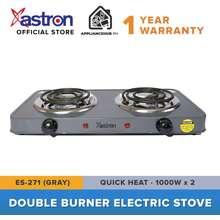 Astron Es-271 Double Burner Portable Electric Stove (Gray) (1000W X 2)
