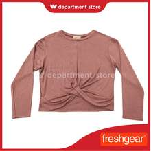 Freshgear by Rodeo Drive 100% Authentic Ladies Long Sleeves Crop Top Blush