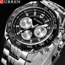 CURREN Fashion Luxury Man Quartz Stainless Steel Watch Casual Military Sport Men Dress Wristwatch