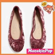 Mango Shoes Munich Velvet Ballerinas