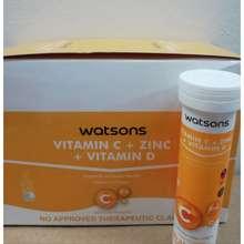 Watsons Vit C+Zinc+Vit D Effervescent Tab(Per Tube)