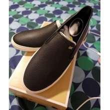 Michael Kors Michael Boerum Double Gore Lasered Leather Slip- On Sneaker Black Us9