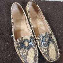 Stuart Weitzman Genuine Snakeskin Loafers