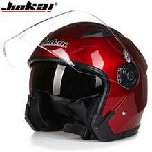 Motorcycle GO JIEKAI Helmet motorcycle open face motor racing motorcycle vintage helmets with dual lens