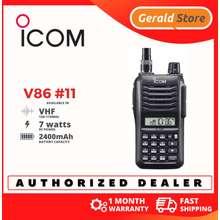Icom Genuine V86 Vhf 7 Watts Water Dust And Shock Resistant Two Way Radio