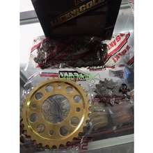 Osaki Lucky Gold Sprocket Set Wave 100/110/125 - Xrm 110/125 - Rs125 - Wave Dash - Xrm Trinity