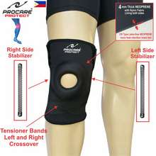 Procare #6040 Knee Support Brace 9Inch Slip-On With Both Sides Knee Stabilizer And Tightener Bands