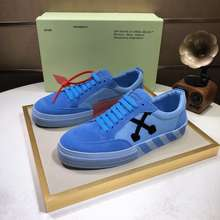 OFF WHITE 【Ready Stock Oversea】 Genuine Leather Sneakers Shoes For Men