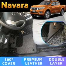 Nissan NISSAN NAVARA 2016 2017 2018 2019 2020 2021 MATTING DOUBLE LAYER SILK LOOP DUST-PROOF WATER-PROOF FIRE-PROOF 3ROWS FREE SHIPPING NAVARA ACCESSORIES MATS DEEP DISH 360° PROTECT NO NEED TOOLS EASY INSTALL