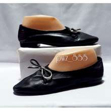 Balenciaga Leather Ballet Flats Doll Shoes Size 38