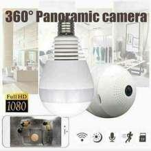 QCY V380 Cctv Bulb Camera 360 Degree Fisheye Panoramic Ip Bulb