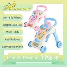 Baby 1st Banana Baby Best Seller Popular Baby Walkers Car Stroller Baby On Sale For Boy And Girl Toddler Cart Learning Walkers Safe Toddler Outdoor Toy Multifunctional Baby Push Walker Toy With Music Baby Learn To Walk 6-18 Months Toddler Walker Push Toy Car