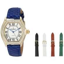 Peugeot Peugot Women'S Five Interchangeable Leather Bands Watch Gift Set