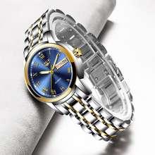 LIGE 2021 Luxury Watch For Women Sale Waterproof Steel Strap Bracelet Ladies Watch