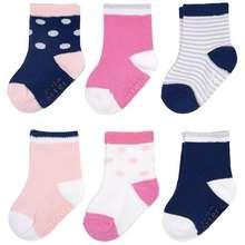 Carter's Carters 6-Pack Socks - Solid Stripes & Dots (0-3 months)
