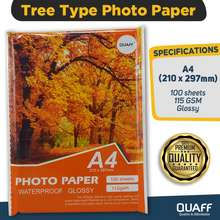 Quaff Photo Paper Tree Type A4 115Gsm (100 Sheets Per Pack)