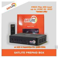 Cignal SATLITE Prepaid Box only FREE 3 Months LOAD* (Limited Offer) AUTHENTIC Direct-to-Home TV Powered by