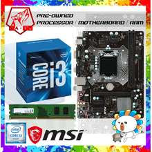 MSI Intel ISeries i3 6100 6th Gen 3.7GHz Processor BUNDLE with H110M-H Motherboard 8Gb 2400mhz