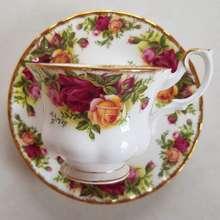 "Royal Albert ""Ocr"" England Fine Bone China   Vintage Teacup And Saucer Milk Jug Sugar Bowl Plate"
