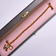 Juicy Couture Love Bracelet with Rhinestones Gold