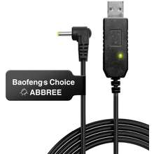 BaoFeng USB Charger Cable with Indicator Light for BF-UVB3 UV-X9 UV-S9 S9 PLUS Batetery Ham Two Way Radio