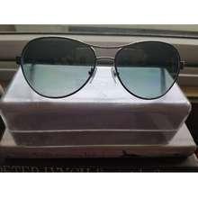 DKNY Red-Rimmed Aviator Sunglasses