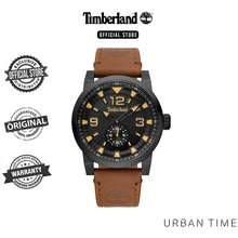 Timberland Mens Brown Leather Strap Analog Watch TBL-15475JSB/02A