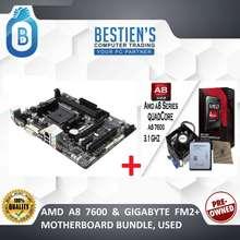 AMD A8 7600 & Gigabyte Fm2+ Motherboard Bundle, Used