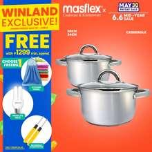 Masflex Original Premium Stainless Steel Induction Casserole With Glass Lid *Winland*