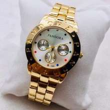 Pandora Fashion Ladies Watch For Women Stainless Vintage Watch With Free Box And Battery