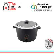 American Heritage 1.0L RICE COOKER STAINLESS COVER HERC-6023