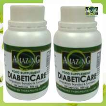 Amazing Food Supplement DiabetiCare 500mg Capsule Bottle of 100 Set of 2. Pure and Organic Powder. FDA Approved with CPR. Clinically proven. Combination of 3 powerful herbs.