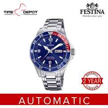 Festina F20478/2 Automatic Silver Stainless Steel Strap Watch For Men